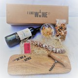 Conde Pinel tempranillo geschenkpakket Espana I Like Wine & Tapasplank Fuet Tapaskaas en Tapasnootjes