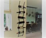 Zwart Metalen wijnrek ladder I Like Wine ILikeWine.nu