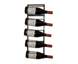 Wijnrek muurbevestiging zwart metaal 5 flessen i like wine ilikewine.nu