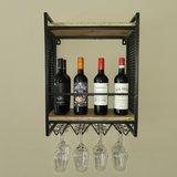 100065 Wijnrek Home hout metaal 5 flessen SSA-WF-134