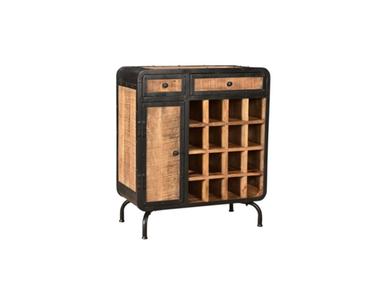 100052 Wijnkast Cabinet 2 laden 1 kastdeur 16 flessen SSA-WF-108