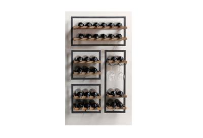 100043 Wijnrek 4-delig 30 flessen SSA-WF-008