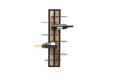 100035 Wijnrek hout metaal 8 flessen SSA-WF-02