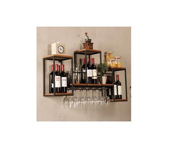 100049 Wijnrek 3 delig met glashangers I Like Wine