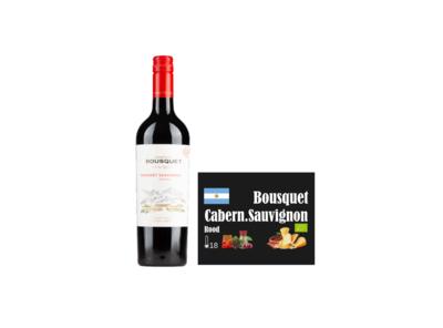 Domaine Bousquet Cabernet Sauvignon bio I Like Wine met wall of wine wijnkaartje