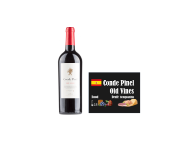 Conde Pinel Oak Aged Old Vines Tempranillo I Like Wine ILikewine.nu Wallofwine.nl wall of wine de nieuwe wijnkaart