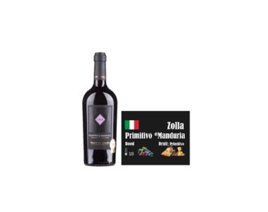 Zolla Primitivo di Manduria Puglio I Like Wine ILikeWine.nu Wall of wine de nieuwe wijnkaart wallofwine.nl