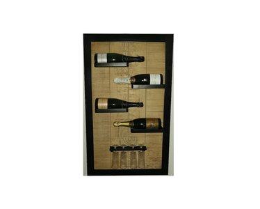 I Like Wine 4 fles wijnrek met 4 glazen ILikeWine.nu